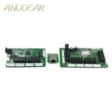 OEM PBC 8 Port Gigabit Ethernet Switch 8 Port mit 8 pin way header 10/100/100 0 m Hub 8way power pin Pcb board OEM schraube loch