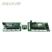 OEM PBC 8 puertos Gigabit Ethernet interruptor 8 puertos con cabezal de 8 pines 10/100/1000 m eje 8 vías pin de alimentación Pcb placa OEM agujero de tornillo