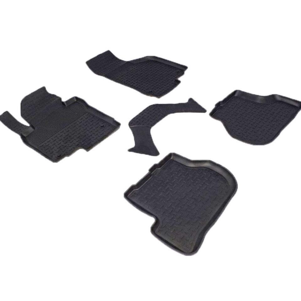 Rubber floor mats for Volkswagen Golf VI 2008 2009 2010 2011 2012 Seintex 82293 rubber floor mats for volkswagen amarok 2010 2018 seintex 83775