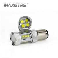 MAXGTRS 2x High Power S25 1157 BA15D DRL 80W LED 16 SMD CREE Chip Car Auto