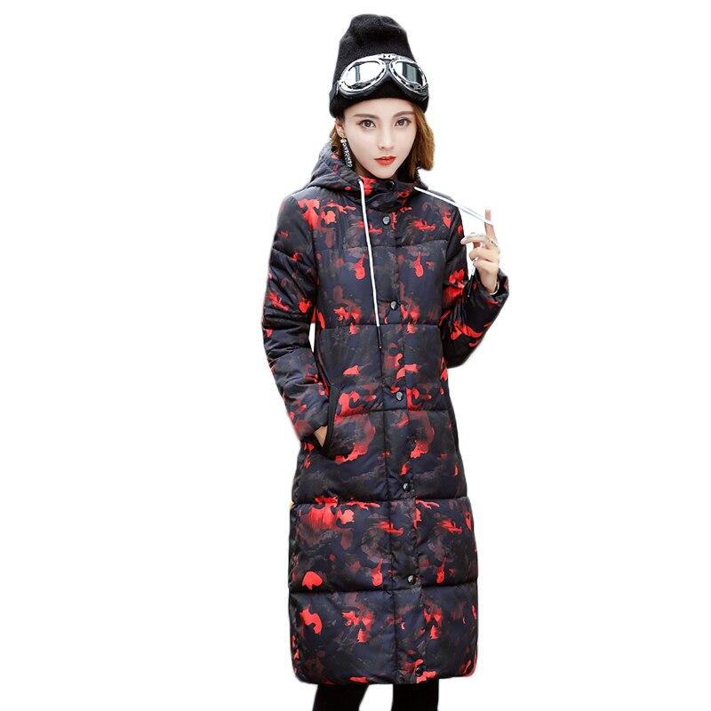 Bas En Vers Qualité Femme Hiver Taille Coton Manteaux Armygreen rembourré Épaississent Long De red Vestes Capuchon Chaud Femmes À orange Le 2018 Haute Grande wtEXvqZR