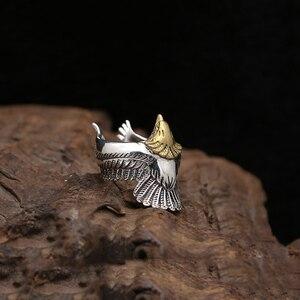 Image 4 - Eagle แหวน 100% 925 เครื่องประดับเงินแท้สำหรับชายหรือหญิงแฟชั่นบุคลิกภาพบุคลิกภาพของขวัญ GR15