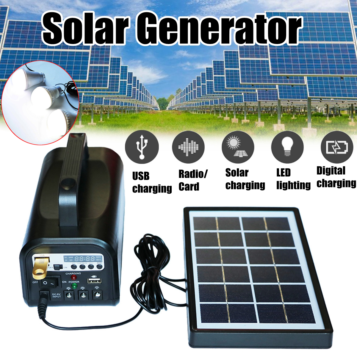 Buy Bluetooth Solar Panel And Get Free Shipping On Pwm Charge Controllersolar Generator 220v Portablesolar