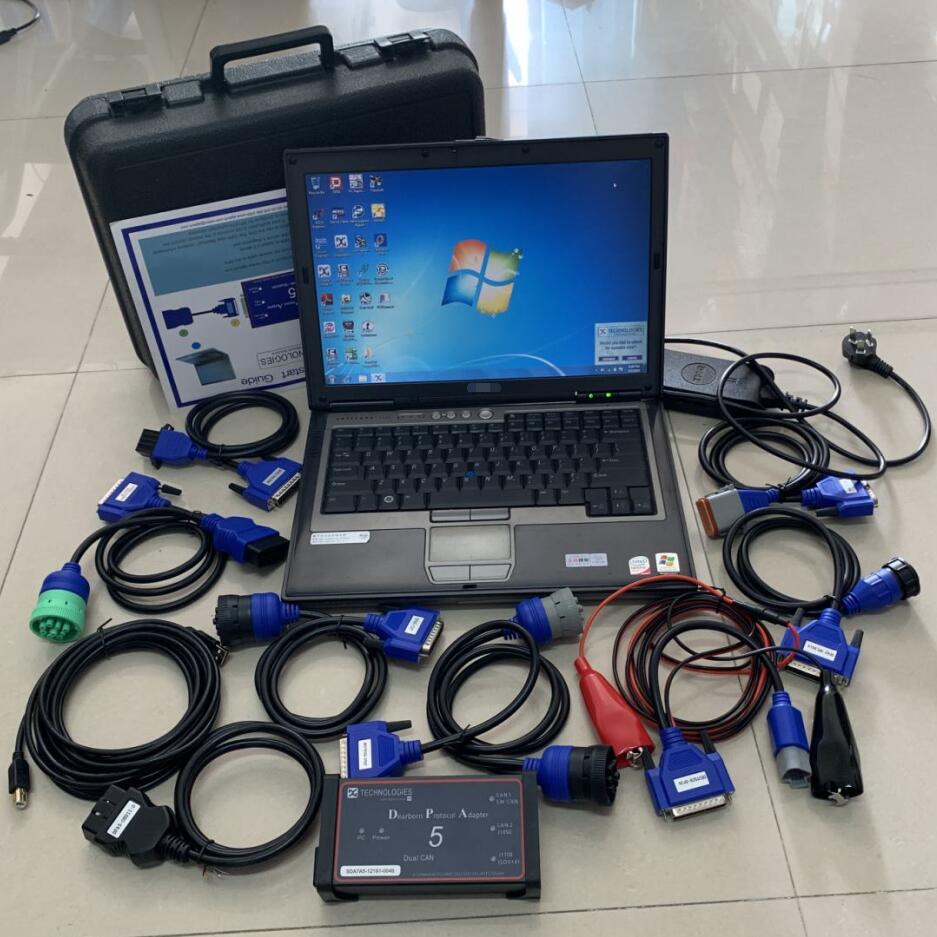 Scanner de camion lourd cnh dpa5 outil de diagnostic adaptateur complet sans logiciel bluetooth avec d630 ordinateur portable ram 4g 2 ans de garantie