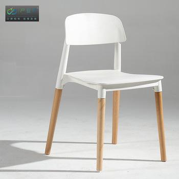 Krzesła do salonu meble do salonu drewniane meble domowe + ABS jadalnia krzesło szezlong fauteuil moda Nordic Coffee Lounge krzesło tanie i dobre opinie Meble do domu Salon krzesło Minimalistyczny nowoczesny 50*43*78cm Nowoczesne Ecoz Rozrywka krzesło wooden+ABS+PU