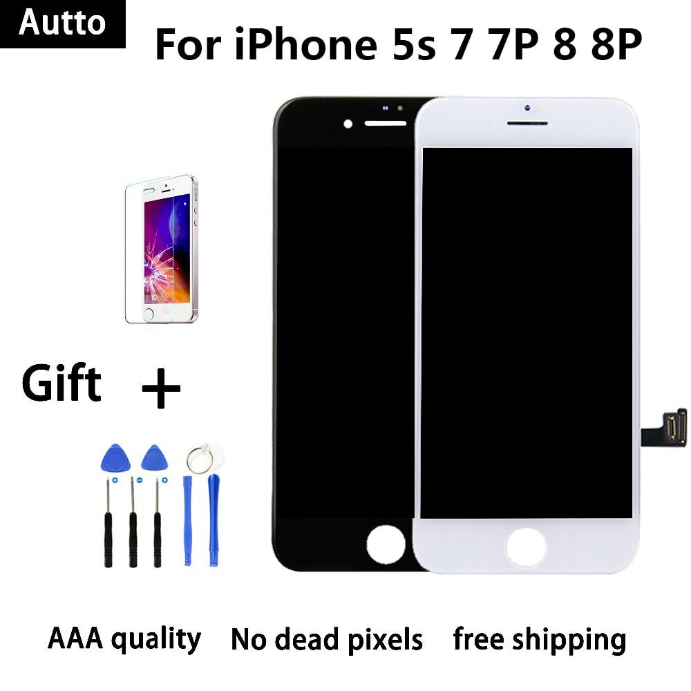 ec92c51d19e Calidad AAA para iPhone 5S 7G 7 Plus 8G 8 Plus pantalla LCD pantalla ...