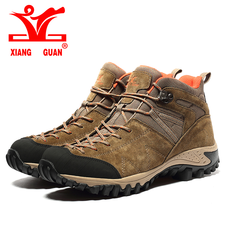 ФОТО XIANGGUAN 2017 Man Outdoor Hiking Climbing Shoes Damping Breathable Tactical Boots Protect Ankle Sneaker Men Camping Sneakers