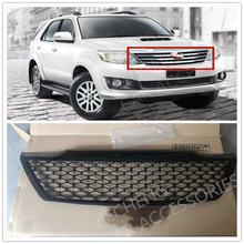 CAR ACCESSORIES MODIFIED FRONT RACING GRILLS ABS GRILL MESH RAPTOR GRILLE MASK TRIMS COVER FIT FOR FORTUNER 2012-2014 PARTS