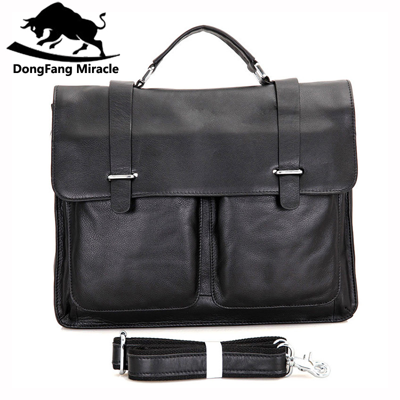 DongFang Miracle Vintag men Briefcase Genuine leather Business Shoulder Bags Quality Stylish Brand Handbags Tote Bag for ManDongFang Miracle Vintag men Briefcase Genuine leather Business Shoulder Bags Quality Stylish Brand Handbags Tote Bag for Man