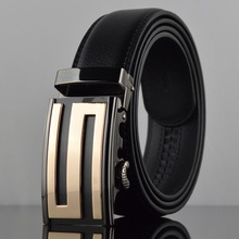 Hot S automatic buckle belt buckle leather belt wholesale leather belt leisure belt LY87578-1