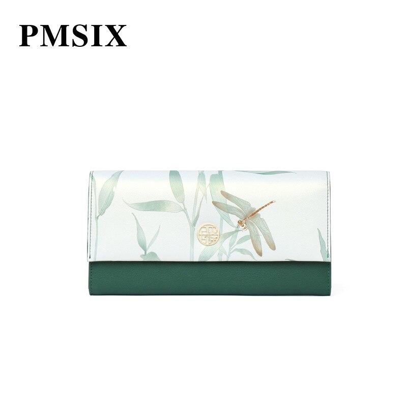 Floral Pmsix Hasp Soirée Transporter Pochettes Mode Impression Portefeuille À Pour monnaie Porte Green Vintage Femmes Élégante De D'embrayage Femme 2019 1rxg8r