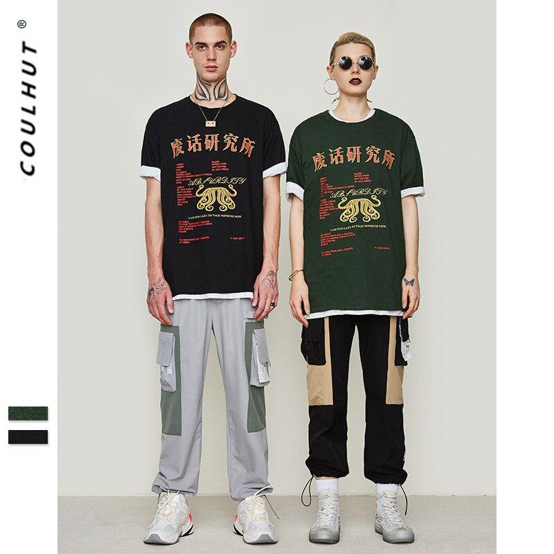 2019 SS Skateboard Funny Chinese Trash T alk Printed T Shirt Streetwear Hip hop Individual Zhongwen Graphic Printed T-shirt
