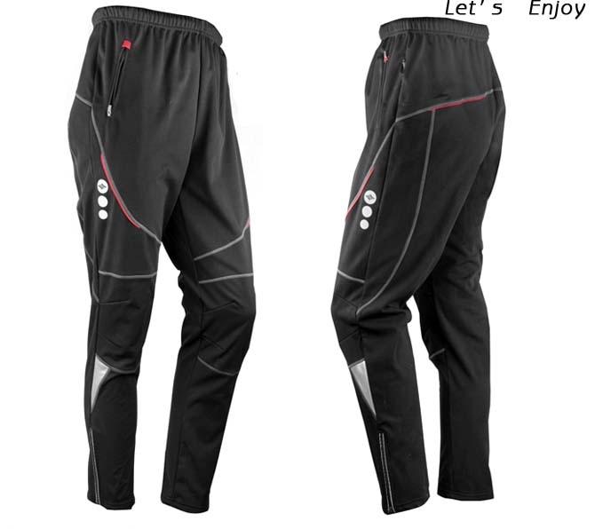 Új férfiak termikus téli kerékpáros vízálló nadrágai kerékpár / kerékpár sport szabadtéri szélálló nadrág C4004