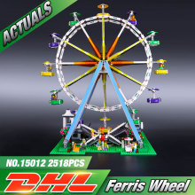 DHL LEPIN 15012 2478Pcs City Creator Expert Ferris Wheel Model Building Kits Blocks Bricks Toys Compatible legeo 10247