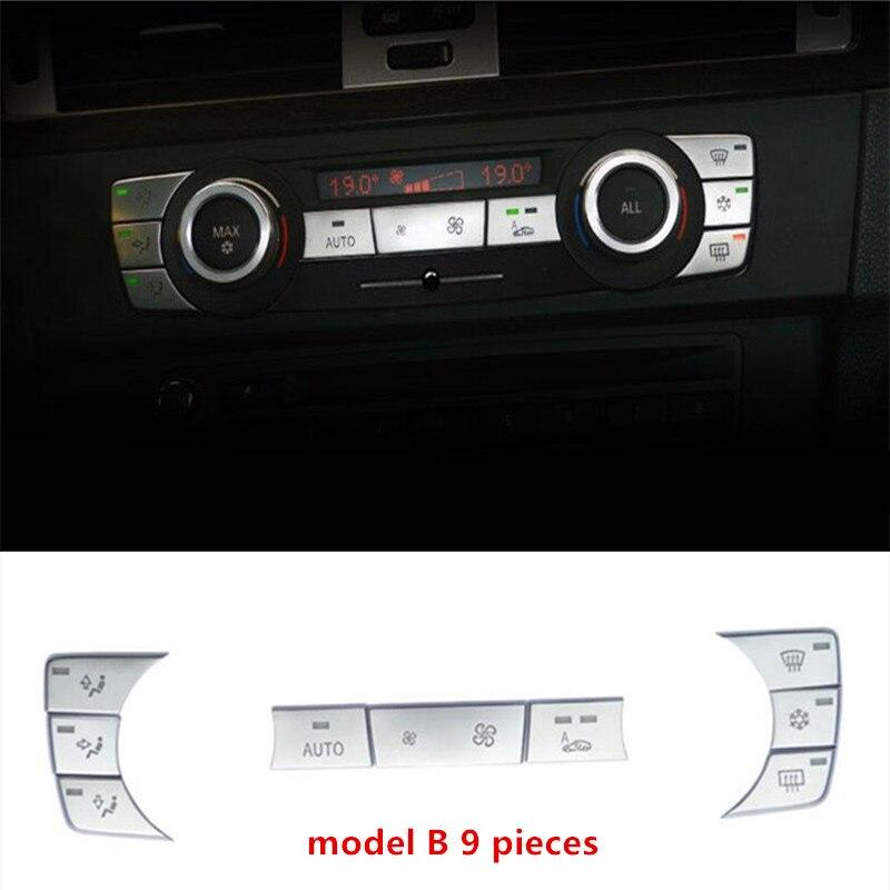 Air Conditioning Buttons Sequins Cover Trim For BMW 3 Series E90 318 320i 2005 2012 Chrome