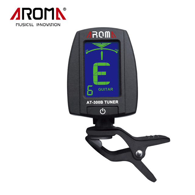 Rotatable 360 Degree Clip Tuner Portable LCD Digital Clip-On Electric Guitar Tuner Chromatic Bass Aroma AT-300B