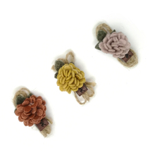 30pcs/lot 3Colors 2.5*5.5cm Mini Felt Coral Flowers DIY Handmade Craft Hair Accessories MOMLOVEDIY
