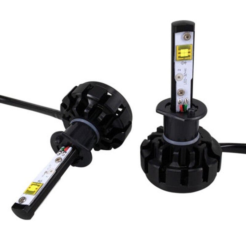 Дополнительная яркое 40W 4000lm Сид v18 стоит автомобиль H1 светодиодный фары Лампа кл УО автоматический набор преобразования У2 Турбо Светодиодные лампы 80 Вт 8000 ЛМ светодиодный комплект замены