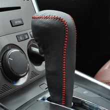 цена на Free Shipping High Quality Cowhide Top Layer Leather Automatic Gear Shift Collars Gear Cover For Opel Astra