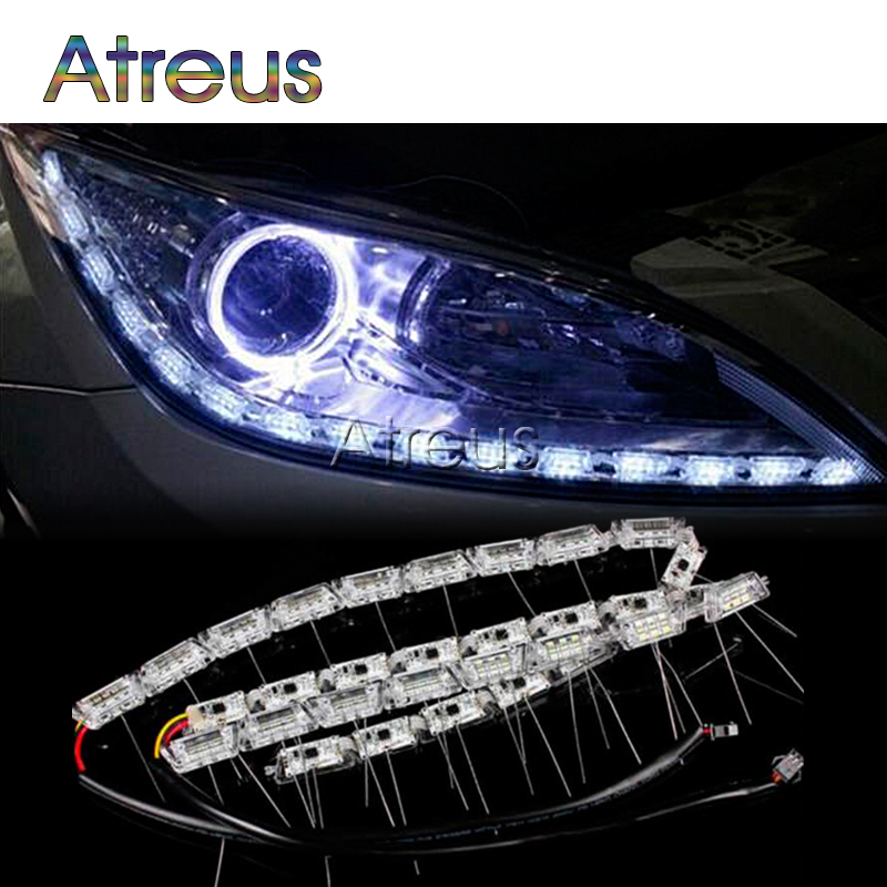 Car-styling 2X Car LED Crystal Water DRL Lamp lights 12V For Mazda 6 2 CX-5 For Jeep Renegade Wrangler Volvo XC60 Citroen c4 c5