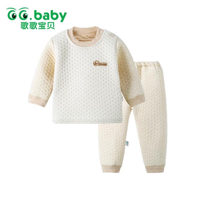 2 pcs Bebê Conjunto de Algodão Conjunto de Roupas de Bebê Roupas de Inverno Bebes ternos Tops Quentes Calças Infantil Bebê Recém-nascido Do Menino Roupas de Inverno conjuntos