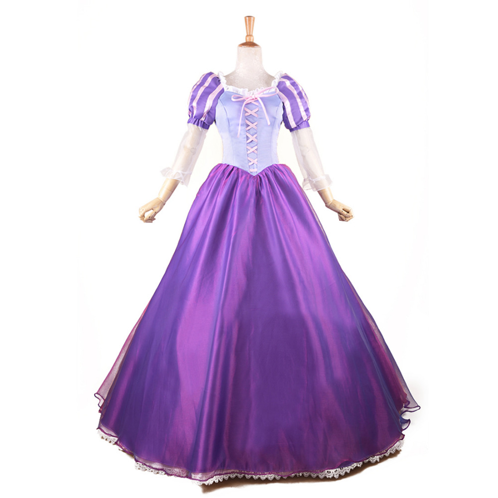 Tangled Princess Rapunzel Costume Fairytale Adult Fancy Dress ...