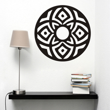 ZOOYOO Living Room Art Wall Stickers Indian  Mandala Pattern Home Decor Vinyl Hollow Out Wall Mural For Believer zooyoo believer home decor wall stickers indian mandala pattern vinyl art wall decals murals bedroom