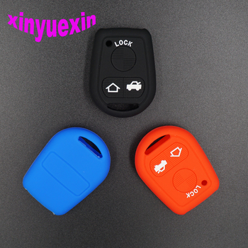 Xinyuexin Silicone Car Key Cover FOB Case For BMW E31 E32 E34 E36 E38 E39 E46 Z3 3Button Remote Key Jacket Wallet Car-stying image