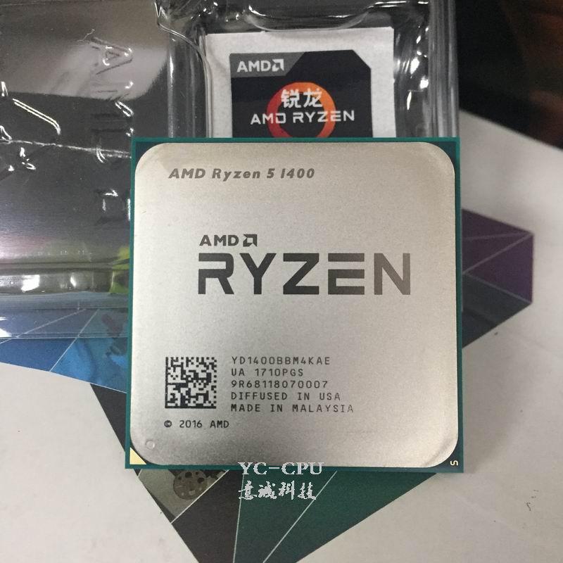 Amd Ryzen 5 1400 R5 Cpu Processor 4core 8threads Socket Am4 3 2ghz