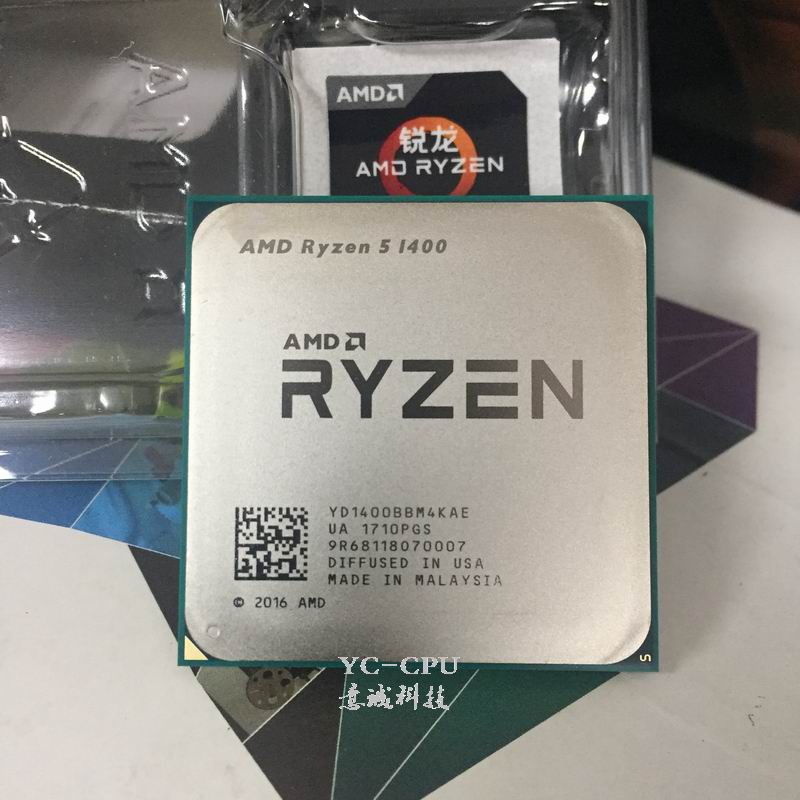 Image 2 - AMD Ryzen R5 1400 R5 CPU Processor 4Core 8Threads Socket AM4 3.2GHz 10MB TDP 65W Cache 14nm DDR4 Desktop YD1400BBM4KAE-in CPUs from Computer & Office