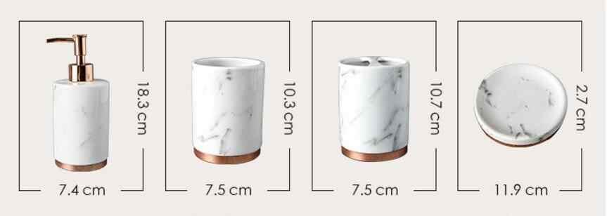 Zestawy łazienkowe 5 sztuk szczoteczki do zębów uchwyt wysokiej jakości marmuru ceramiki mycia kubek akcesoria łazienkowe