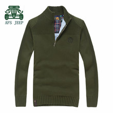 AFS JEEP Thickness Cashmere Inner 2015 Sweater For men Winter,Pullover Warmly Sweaters Full Sleeve Knitted Outwear,Man leisure