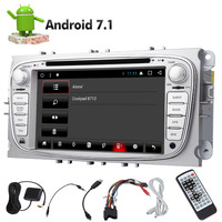 Eincar 2din Car Double 2 Din 32/2GB Car DVD Video Player Android 7.1 8 core GPS Navi Stereo Radio For Ford Mondeo Bluetooth