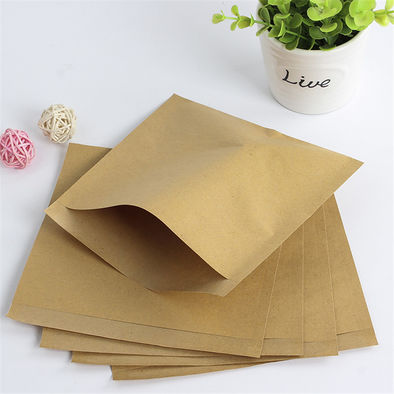 100pcs Brown Kraft Paper Bags Sandwich Bread Fries Oil Proof Food Packing Bag Party Fast Food Wrap Bag Bar Restaurant Supplies