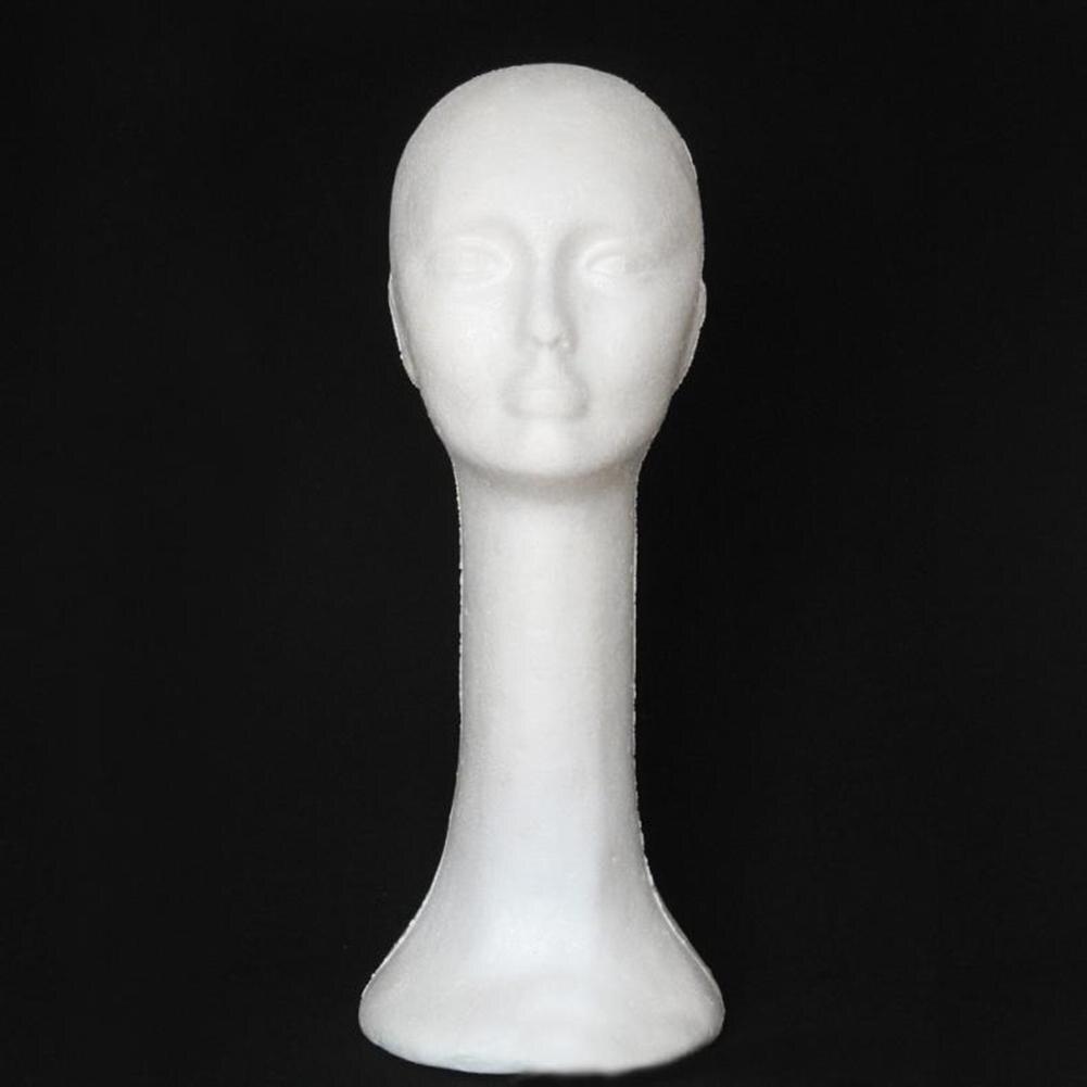 HOT SALE!!! Foam Female Human Head Long Neck Mannequin Wig Hat Glasses Display Stand Model Training Head