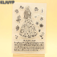 KLJUYP Beautiful Girl Clear Stamps Scrapbook Paper Craft Clear stamp scrapbooking KL351