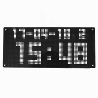 Wifi NTP network calibration time clock home Led calendar clock outdoor large screen led wall clock Auto adjust time function