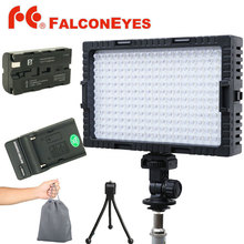 Falconeyes LED Видео Свет Лампы С Регулируемой Яркостью для освещения Съемки или Съемка для Canon Nikon Камеры с Зарядным устройством