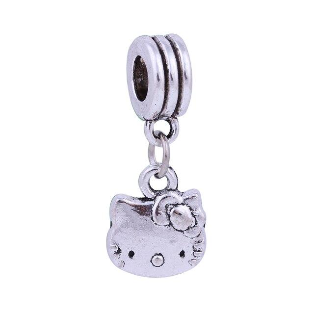 Silver cute kitty cat charms pendants beads european diy beads fit silver cute kitty cat charms pendants beads european diy beads fit pandora charms bracelets bangle aloadofball Choice Image