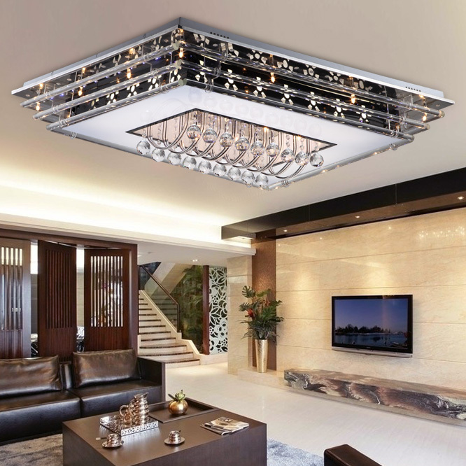 Low Kwong Led Crystal Ceiling Living Room Modern Minimalist Fashion Creative Chandelier Lighting Decoration