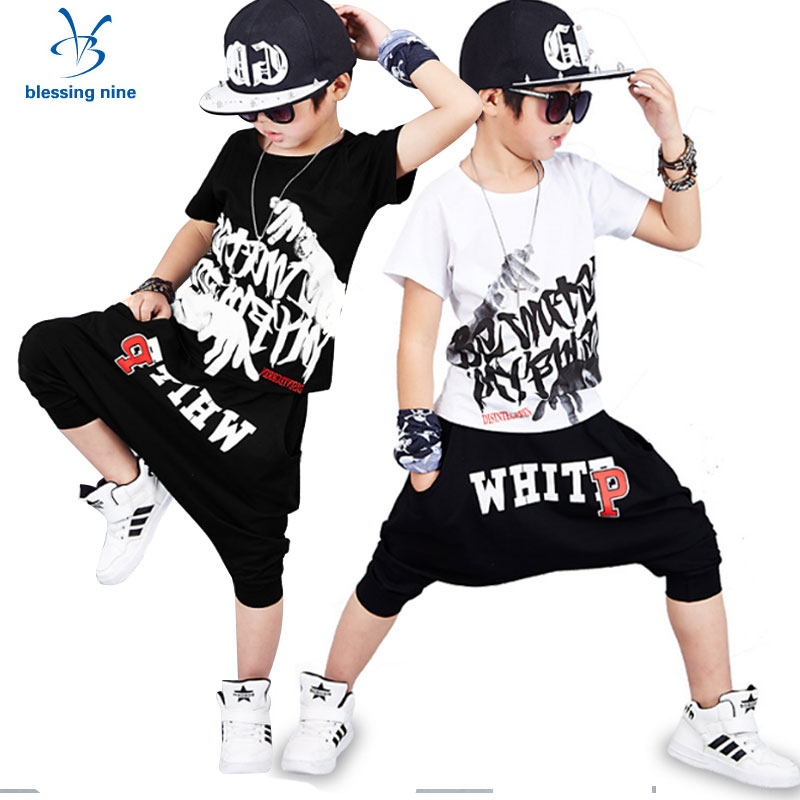 Styles Tracksuit Hip Hop Kids Clothes for Boys Summer Boy Sets Toddler Sports Suit Children Clothing 10 12Years T-shirt+Shorts