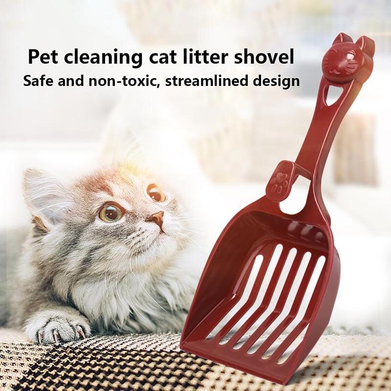 1 Pcs Pet Cat Litter Shovel Scoop Sand Poop Waste Scooper Durable Cleaning Tool XHC88