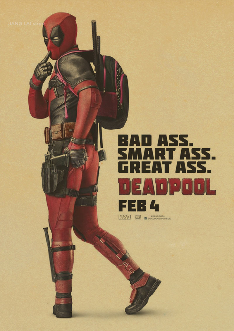 Vintage poster marvel deadpool poster wandaufkleber für ...