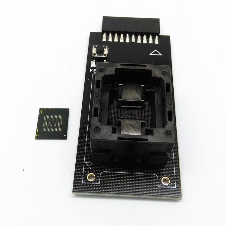 Customized-eMMC153-169-Reader-test-socket-to-20-Pins-Open-Top-Structure-BGA153-169-Size11-5x13mm (2)