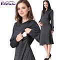 Emotion Moms Maternity Clothes Pregnancy Dress Fashion Breastfeeding Dress for Pregnant Women clothing Soft Autumn Nursing Dress