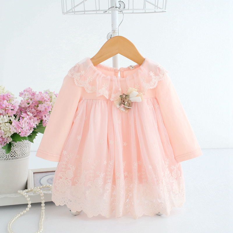 Baby Girls Princess Dress For Newborn Infant Clothing 2019 Summer Cute Cotton Long Sleeve Baby Dress Toddler Girl Clothes Dresse