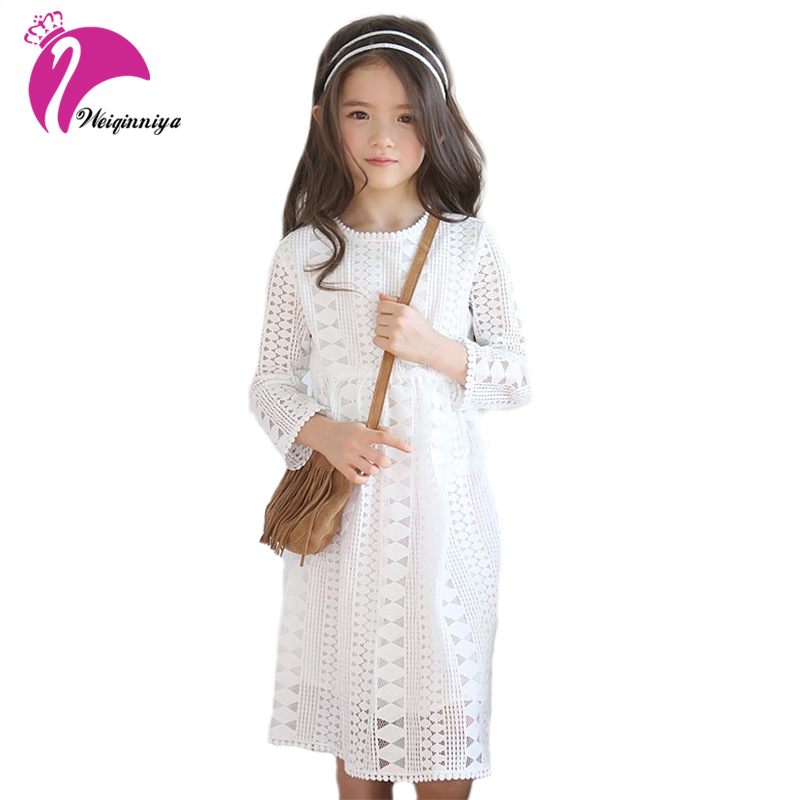 Kid Clothing Dresses 2017 New Brand Children Girls Sweet Costumes Lace Solid Princess Dress Preppy Style Kids Summer Clothes Hot acthink 2017 new girls formal solid lace dress shirt brand princess style long sleeve t shirts for girls children clothing mc029