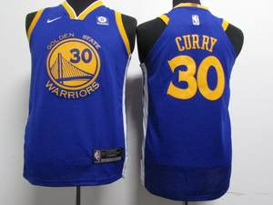 warrior blue 30 Stephen Currie youth NIKE Basketball Jersey 36a4162e1