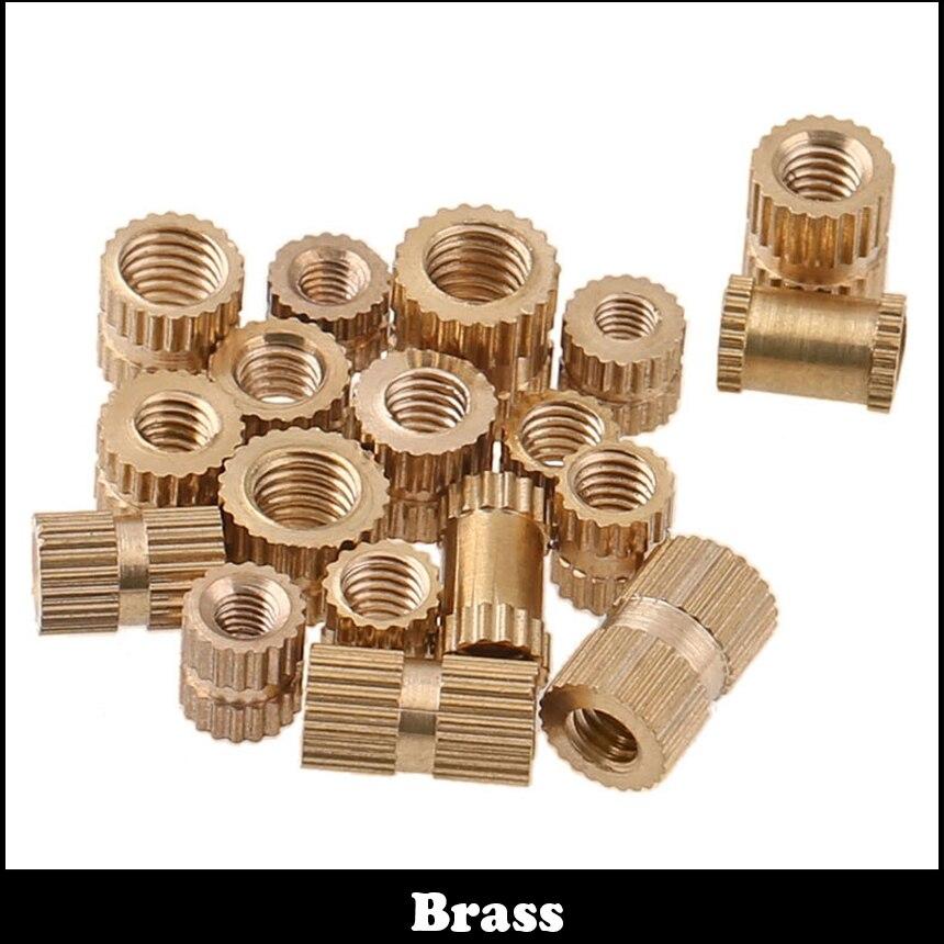 M3 M3*5*5 M3x5x5 M3*5*10 M3x5x10 Straight Stripe Thread Emdedment Plastic Injection Mould Brass Insert Round Knurled Thumb Nut