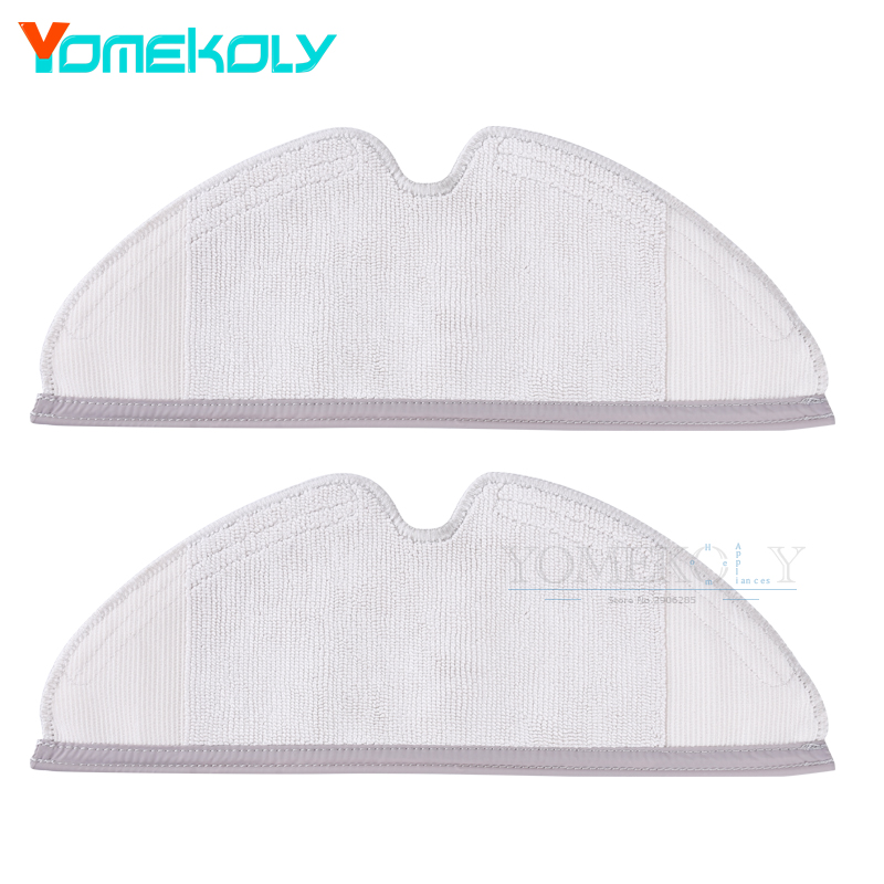 2pcs Mop Cloths for Roborock Xiaomi Vacuum Cleaner Generation Dry Wet Mopping Cleaning Cloth Packs 2pcs original roborock s50 s51 parts mop cloths for xiaomi vacuum cleaner generation 2 dry wet mopping cleaning